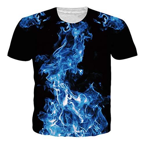UNIFACOHerren T-Shirt 3D Drucken Sommer Kurzarm Witzige Tshirts Tops S-XXL