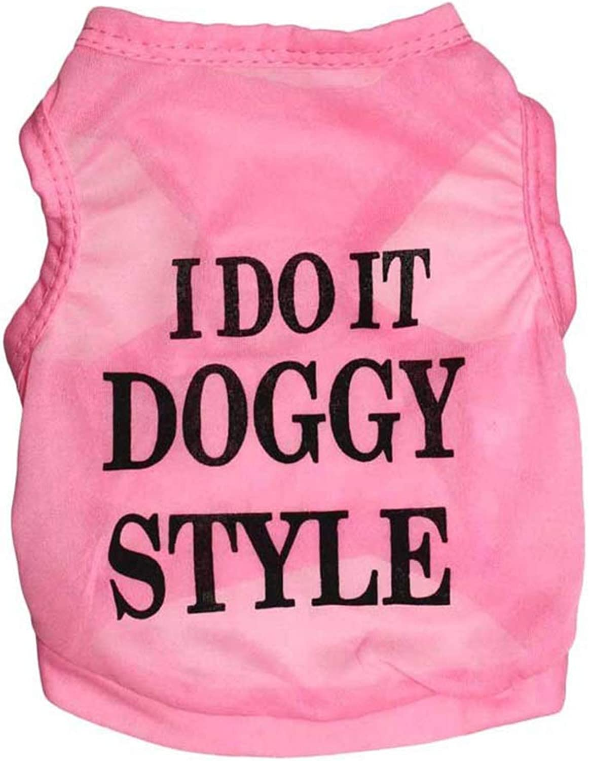 Huayue Pet Clothing Dog TShirt UltraThin Breathable Pet Vest Breathable and Comfortable (color   Pink, Size   XS)