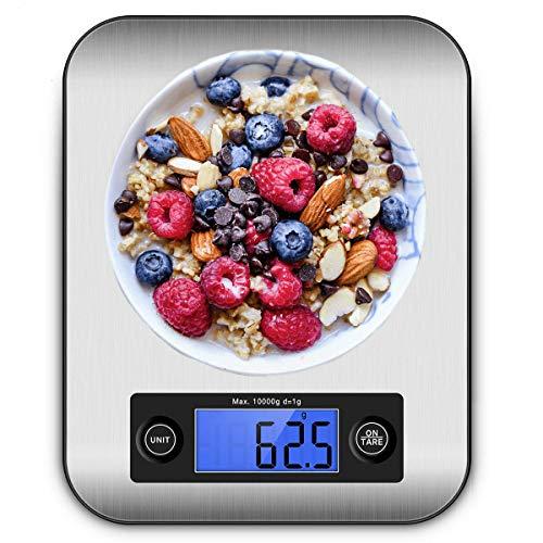 IceFrog Küchenwaage Digital Digitalwaage Digitale Küchenwaage Professionelle Waage Electronische küchenwage, Haushaltswaage mit LCD Display-wunderbare Präzision auf bis zu 5g - 10kg Maximalgewicht