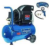 SCHEPPACH SET HC26 Druckluft Kompressor (24 Liter Kesselvolumen, 8 bar Druck, Inkl. 5m Spiralschlauch und...