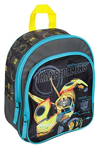 Undercover TFUV7601 - Rucksack mit Vortasche für Kinder, gepolstert, robust, Transformers mit Bumblebee Motiv, ca. 31 x 25 x 10 cm