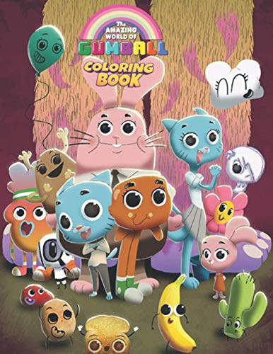 The Amazing World of Gumball Coloring Book: Super Gumball For Adults And Kids - Beautiful & High Quality Illustrations