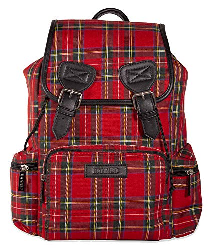 Banned Alternative Women Kenneth Tartan Backpack - One Size/Red