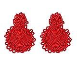 Youdong Boucles d'oreilles en Perles de bohème Rondes Dangl