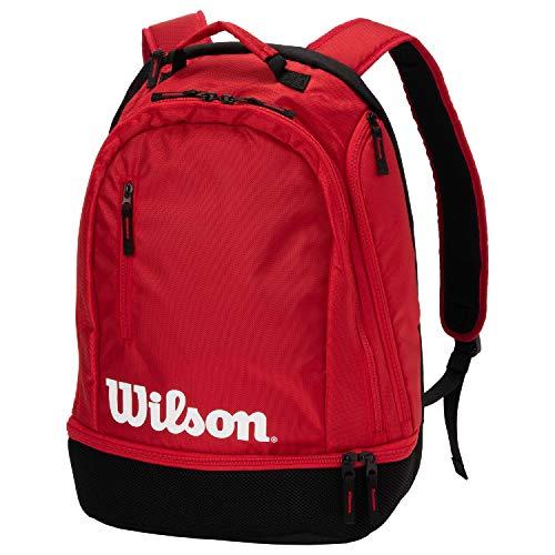 Wilson Mochila de tenis Team, Hasta 2 raquetas, Rojo/negro/blanco, WRZ857996