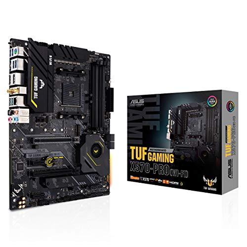 ASUS TUF Gaming X570-PRO (WI-FI) - Placa Base Gaming ATX AMD AM4 con VRM de 14 Fases Dr. Mos, PCIe 4.0, Dos M.2, 2.5G LAN, Wi-Fi 6, Realtek S1200A USB 3.2 Gen 2 de Tipo C e iluminación Aura Sync RGB