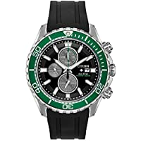 Citizen Men's Promaster Stainless Steel Quartz Sport Watch with Rubber Strap (Black)