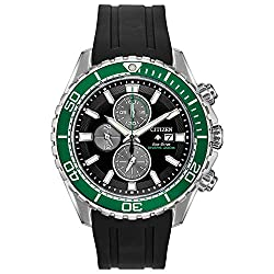 small Citizen Promaster Men's Quartz Sport Watch, Stainless Steel, with Rubber Strap, Black, 22 (Model:…