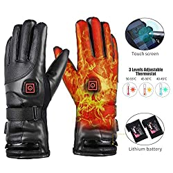 Electric Heated Glove 7.4V Rechargeable Winter Gloves Men Women Waterproof & Windproof Warm, Ideal for outdoor skiing, motorcycle, hunting