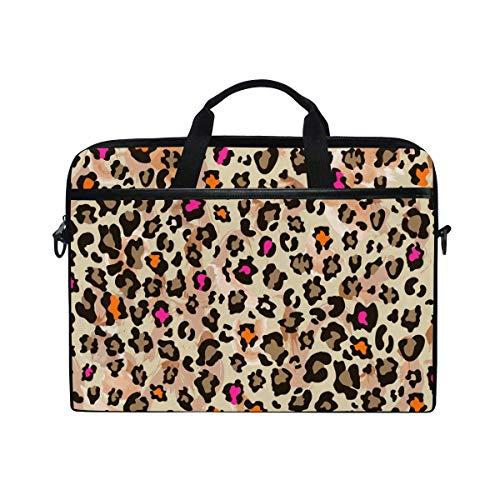 Laptop Sleeve Case,Laptop Bag,Sexy Leopard Skin Pattern Water Briefcase Messenger Notebook Computer Bag with Shoulder Strap Handle,29×40 CM/15.6 Inch