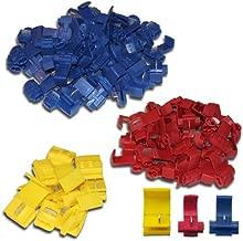 Gelb 30Pcs Rot 40Pcs Premium T-Abzweigverbinder Schnellverbinder Kit: T-Schnellverbinder Vollisolierter Flachstecker FULARR 110Pcs 55 Pairs Blau 40Pcs