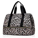 MIER Dual Casserole Carrier Insulated Bag for Hot or Cold Food Transport, Fits 9''x13'', 10''x15'' Baking Dish/Lasagna Pan, Leopard