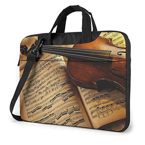 Maletín para portátil Funda para Ordenador port Ordenador Funda para Instrumentos Musicales Libro Maletín Impermeable para Hombro 13 14 15,6 Pulgadas