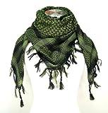 Premium Shemagh Head Neck Scarf - Green/Black