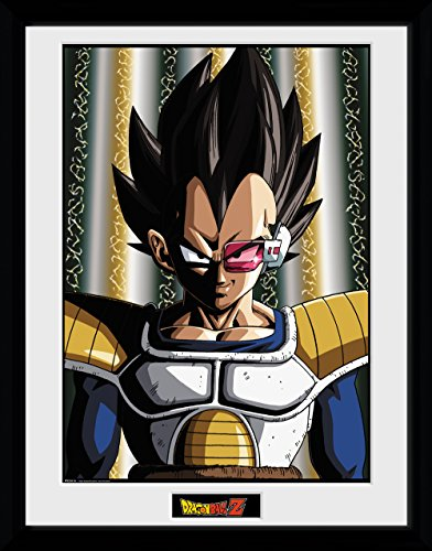 Dragon Ball Z, Vegeta, Framed Print 30x40cm, Wood, Various, 52 x 44 x 3 cm