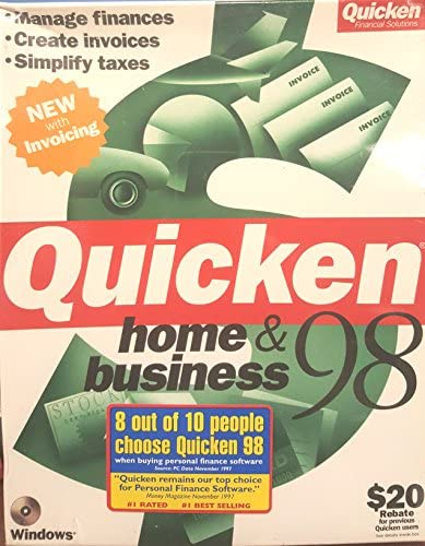 Quicken Home Business 98 product image