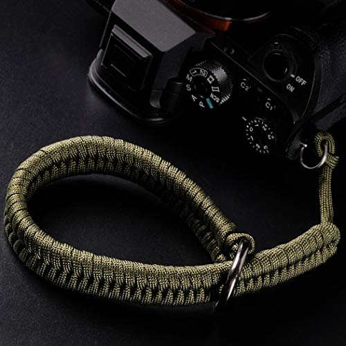 Camera Wrist Strap (550 Paracord/Green) Higher-end and Safer Adjustable Camera