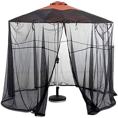 Outdoor Mosquito Net Tent Mosquito net for parasol, Parasol Mosquito Net Outdoor Garden Umbrella Table Screen Parasol Mosquito Net Cover Bug Netting Cover Single Door Zipper Entrance Bug Netting Cover