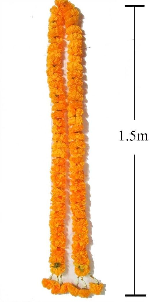 Bigサイズ人工イエローMarigoldガーランド/サイズ: 1.5?M、by jakapan。