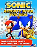 Sonic Activity Book For Kids: Explore The Essential Activity Book For Toddlers, Kids And All School-Aged Children Enjoy While Learning And Playing Many Educational Games With Super Cute Sonic Images