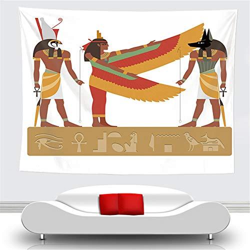 OTIAN Tapiz Macrame Faraón Egipcio Antiguo Tapiz Pirámide Paiting Pirámide Colgante De Pared Estera De Yoga Toalla De Playa Manta Fiesta Decorativa