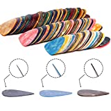 150 Pcs Guitar Picks Sampler Value Pack, Includes Thin, Medium & Heavy Gauges 3 Sizes