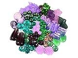 Vintageparts DIY Perlenset lila grün Anfänger Bastelset mit über 100 Perlen