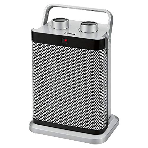 Bomann HL 1097 CB Keramik-Heizlüfter 7-Stufen-Schalter, stufenlos regelbarer Thermostat, 1000/1500 W, Silber