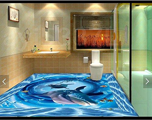 Leegt 3D Tapeten Wallpaper Boden Malerei Unterwasserwelt Schwimmbad Badezimmer Stock Wohnzimmer Foto 350cmX280cm