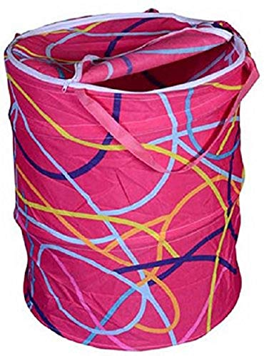 Evercrafting Bolsa Plegable de Tela Redonda para 2 cestas de lavandería, Volumen: -30L, Multicolor