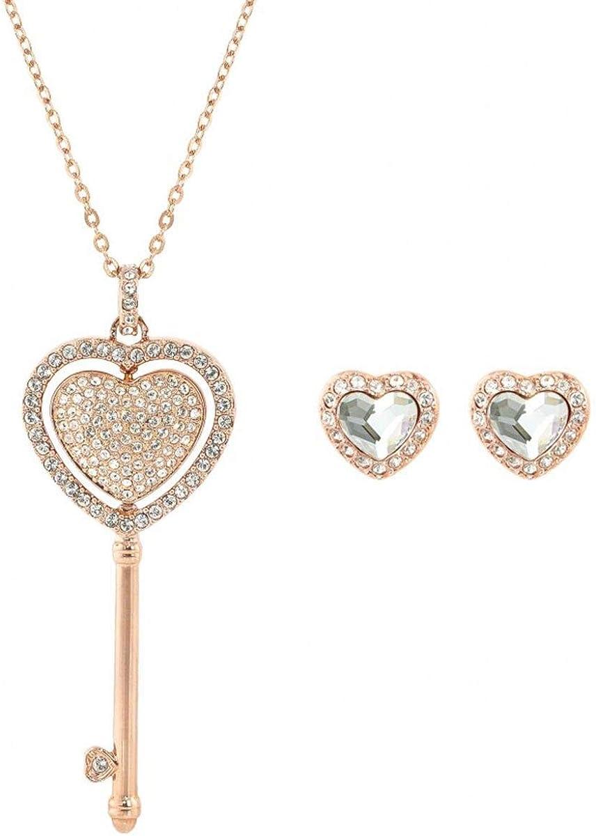 Swarovski Rose Gold Engaged Heart Set