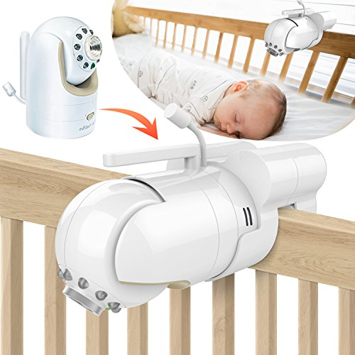 Baby Monitor Mount Bracket for Infant Optics DXR-8 Baby Monitor, Featch Universal Baby Cradle Mount Holder for Infant Optics DXR-8(Infant Optics DXR-8 Not Included.) …