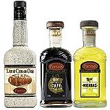 Pack Licores Sobremesa Panizo: 1 botella de Crema de Orujo, 1 botella de Licor de Café y 1 botella de Licor de Hierbas