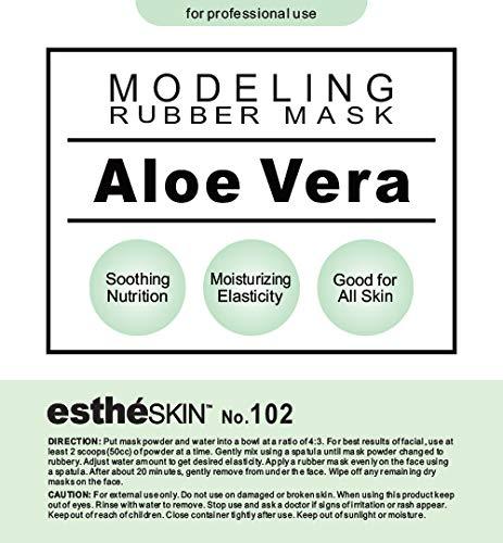 estheSKIN No.102 Aloe Vera Modeling Mask Powder for Professional Facial Treatment, 35 Oz.
