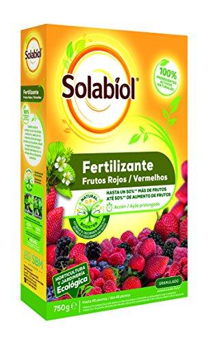 Solabiol Fertilizante 100% organico para frutos rojos y estimulador Natural Booster, 750g