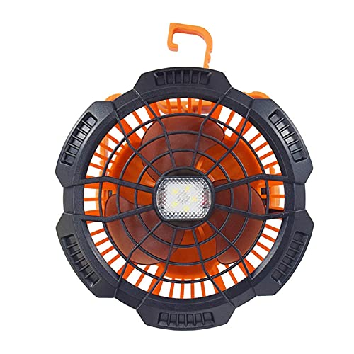 N&G Daily Equipment Portable Camping Fan with LED Light Camping Fan Lantern for Tents Rechargeable LED Camping Fan Light with Remote Control for Outdoor Hiking Hurricane Emergency Outages