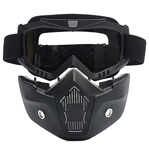 Delhi Traderss Detachable Modular Motorcycle Bike Face Helmet Mask Shield Goggles For...