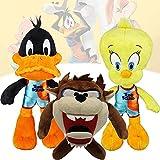 7.8Inch/20cm Space Jam A New Legacy Plush,Tweety Bird & Daffy Duck & Tasmanian Devil Plush Soft Stuffed Animal Doll for Fans Gift (Tweety Bird+Duck+Tasmanian Devil)