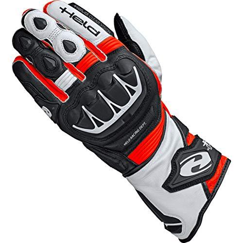 Held Motorradhandschuhe lang Motorrad Handschuh Evo-Thrux II Sport Handschuh schwarz/rot 12, Herren, Sportler, Ganzjährig, Leder