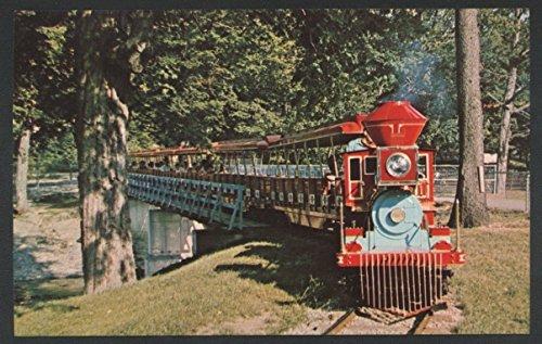 CP Huntington Glenwood Erie Zoo Train Station Railroad Postcard