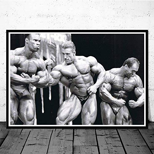 CNHNWJ Múltiples tamaño Dorian Yates Póster Hogar Gimnasio Decoracion Pared Arte Inspiración Músculo Entrenamiento Dorian Yates Fitness Cuadros Impresión Lienzo Pinturas