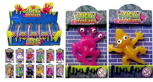 12 X Klebrig Kreaturen Werfen Spielzeug - Partytüte Füller