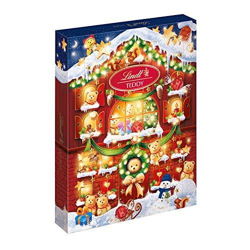 Calendario dell'Avvento Lindt Orsetto: 24 Cioccolatini di Finissimo Cioccolato al Latte, 172 g