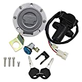 CNCMOTOK Ignition Switch Gas Cap Cover Seat Lock Key Set for Yamaha YZF R1 R6 1992-2012