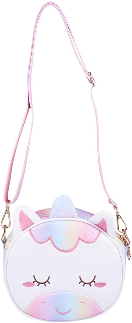 VALICLUD Crossbody Bag for Kids Little Girls Purses and Handbags Shoulder Bag Unicorn Purse for Girls