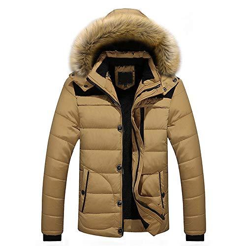 YJNH Herren Daunenjacke Full Zip Steppjacke Neuer Winter Vlies Warme Verdicken Hoodie Outwear Langarm Winddicht Outdoor Casual Daily Wear Abbauen Hoodie Sweatshirt 5XL