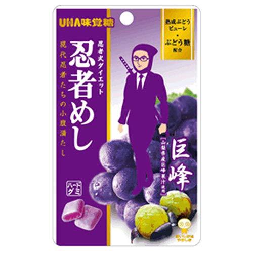 UHA味覚糖 忍者めし (巨峰) 20g×10袋入×(2ケース)