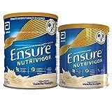 Ensure Pack de 2 NutriVigor Complemento Alimenticio con Proteínas, Vitaminas y Minerales, Sabor...
