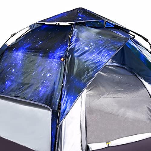 ZHHL Tienda De Campaña De Cielo Estrellado Al Aire Libre Que Acampa 3-4 Personas, Tienda De Campaña De Apertura Rápida Automática Doble Puerta Doble