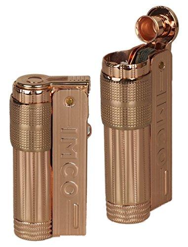 Imco–Mechero de Super Triplex Oil Brass Copper Texto